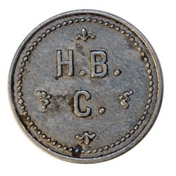 HUDSON'S BAY COMPANY. Ungava Bay District. 1 M.B./H.B./C. Alum. 25mm. Gingras-245. R-10. VF. A Hudso