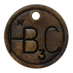 Attributed to the Hudson's Bay Company. Uniface incused brass disc., holed. W/HB C/3. 25mm. Unconfir