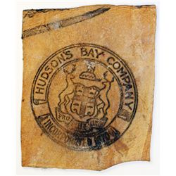 HUDSON'S BAY COMPANY. Skin Counter. Gingras 205. Coat of Arms, surrounded by HUDSON'S BAY COMPANY, i