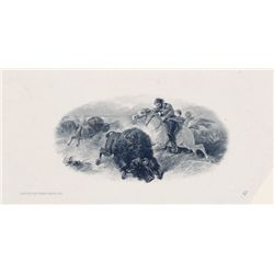 "THE INTERNATIONAL BANK OF CANADA. Die Proof Vignette. 'Buffalo Hunting'. 6"" x 4"". The vignette appea"