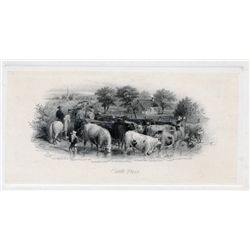 "THE INTERNATIONAL BANK OF CANADA. Die Proof Vignette. 'Cattle Drinking at River'. 6 1/4"" x 4"". The v"