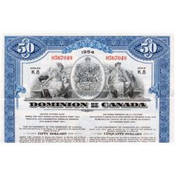 DOMINION OF CANADA bond. $50.00. WWII. Second Victory Loan. March 1, 1942. No. H567049. Series K.8.