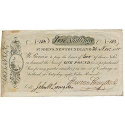 NIAGARA SUSPENSION BRIDGE. Five Shillings Share. An 1847 unissued Remainder, with counterfoil. Plus,