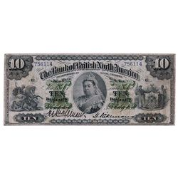 THE BANK OF BRITISH NORTH AMERICA. $10.00. July 3, 1889. CH-55-22-08. No. 756114/B. PMG graded Very