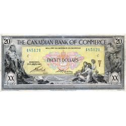 THE CANADIAN BANK OF COMMERCE. $20.00. Jan. 2, 1917. CH-75-16-04-20a. No. 485121/C. VF.
