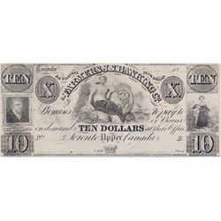 THE FARMERS J.S. BANKING CO. $10.00. (Feb.), 1849. CH-285- 10-02R. A Remainder. PMG graded AU-55.