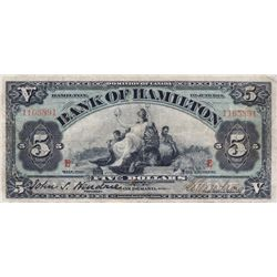 THE BANK OF HAMILTON. $10.00. 1 June, 1914. CH-345-20-04. No. 1165891. PMG graded Choice Fine-15.