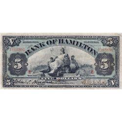 THE BANK OF HAMILTON. $10.00. 1 June, 1914. CH-345-20-04. No. 1165891. PMG graded Choice Fine-15.