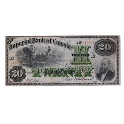 THE IMPERIAL BANK OF CANADA. $20.00. Oct. 1, 1915. CH-375-16-16. No. 149001/B. PMG graded VG-10. Ver