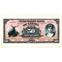 $50.00. Jan. 2, 1903. CH460-14-12P. A Full Colour Face PROOF on a large card. Pristine. A beautiful