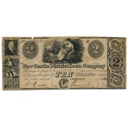 NEW CASTLE DISTRICT LOAN COMPANY. $2.00. (10 Shillings). 1836. No. 782/A. CH-505-10-04. Orange back.