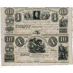 NEW CASTLE DISTRICT LOAN COMPANY. An uncut half sheet. $4.00, $10.00. CH-525-10-06, CH-525-10-08. Th