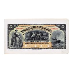 THE BANK OF NOVA SCOTIA. $5.00. June 1, 1898. CH-550-28-02P. Serial No. 000000/A. A Full Colour Face