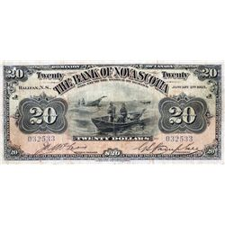 THE BANK OF NOVA SCOTIA. $20.00. Feb. 1, 1918. CH-550-28- 16. No. 181073/B. PMG graded Very Fine-20.