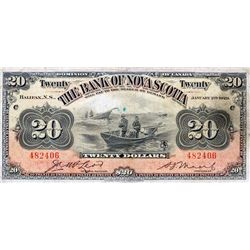 THE BANK OF NOVA SCOTIA. $20.00. Jan. 2, 1929. CH-550-28- 22. No. 482406/C. PMG graded Very Fine-20.
