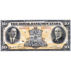 THE ROYAL BANK OF CANADA. $10.00. Jan. 3, 1927. CH-630- 14-08. No. 1610454. PMG graded Very Fine-25.