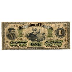 $1.00. July 1, 1870. DC-2d. Payable at Halifax. No. 76286/A. Rare and problem free.