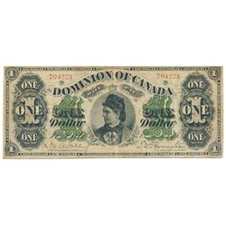 $1.00. June 1, 1878. DC-8f. Payable at Toronto. No. 704223/D. PMG graded Fine-15.