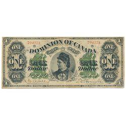 $1.00. June 1, 1878. DC-8f. Payable at Toronto. No. 704223/D. PMG graded Fine-15.