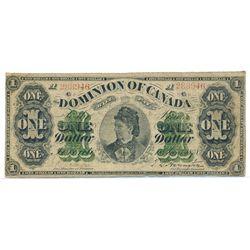 $1.00. June 1, 1878. DC-8f-i. Payable at Toronto. No. 288946/A. VG-10.