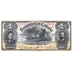 $1.00. Mar. 31, 1898. DC-13a. Courtney. One's Inward. No. 242180/B. PMG graded EF-40.