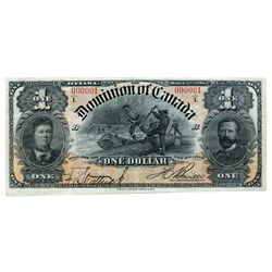 $1.00. Mar. 21, 1898. DC-13c. Boville. Serial No. 000001/D. Series 'L'. Extra Fine to AU or better.