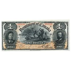 $1.00. Mar. 31, 1898. DC-13c. Boville. No. 293820/D. PCGS graded Unc-63. A choice note, with some li