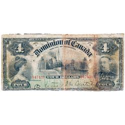 $4.00. July 2, 1900. DC-16. No. 047431/C. PMG graded Good-6.
