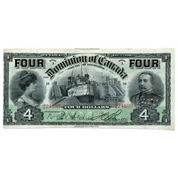 $4.00. Jan. 2, 1902. DC-17b. 'FOUR's. Boville. No. 224609/D. A good Very Fine.