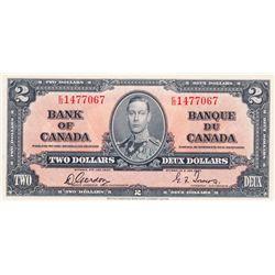 $2.00. 1937 Issue. BC-22b. Gordon. No. E/B1477067. PCGS graded Choice Unc-64. PPQ.