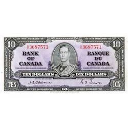 $10.00. 1937 Issue. BC-24a. Osborne. No. A/D3687571. PCGS graded Choice AU-55.