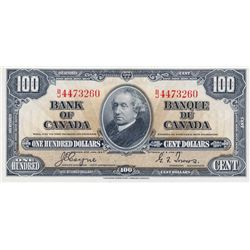 $100.00. 1937 Issue. BC-27c. Coyne-Towers. No. B/J4473260. PMG graded AU-55. EPQ.
