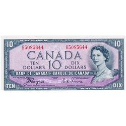 $10.00. 1954 Issue. BC-32a. 'Devil's Face' Coyne-Towers. No. C/D5085644. PMG graded UNC-64EPQ.
