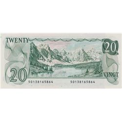 $20.00. 1979 Issue. BC-54a. Lawson-Bouey. No. 50138165864 & 5865. Two consecutive notes. The first i