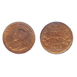 1922. ICCS AU-55, (cleaned). 50% luster; 1925. ICCS AU-50, (cleaned). 40% luster. Lot of two (2) 'ke