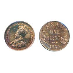 1929. ICCS SPECIMEN-65. 30%/10% red luster on obverse/ reverse. A Gem specimen.