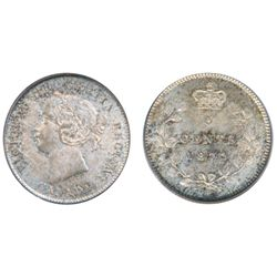 1872-H. ICCS Mint State-66. Superb light multi-hued toning in shades of gold, light blue and green,