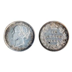 1892. Small 9. Obverse port. #5. ICCS AU-50. Brilliant, with touches of gray and blue tone.
