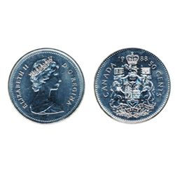 1982. Sm. Beads, Type 2. 1988. Both ICCS Mint State-65.