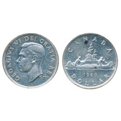 1948. ICCS AU-58. A brilliant near mint state example of the 'key' date.