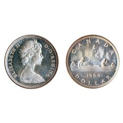 1965, Type Three. Proof-Like-65. Heavy Cameo. Traces of light blue toning.