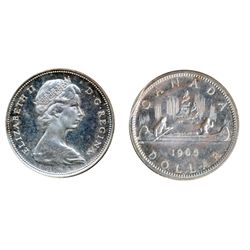 1965. Type Three. Proof-Like-64 or better. Lot of two (2) coins, both brilliant with Heavy Cameo con