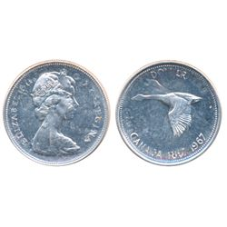 $1.00. 1967. Double-Struck. A brilliant Mint State-63.