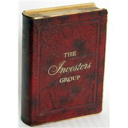 THE INVESTORS GROUP. 'Save and Have' on spine. Coin slot on bottom. Key lock, key present. No serial