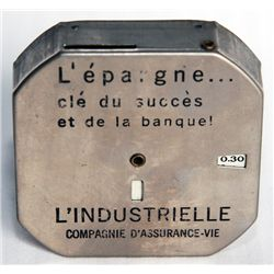 L'EPARGNE CLE DU SUCCESS ET DE LA BANQUE L'INDUSTIELLE COMPAGNE D'ASSURANCE VIE. A Nickel-plated Oct