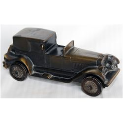 THE COMMERCIAL BANK. Member F.D.I.C. Shape of a Classic Car-'Lincoln Brougham'. A Brass bank, with m