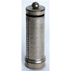 COIN TUBE. A Ten Cents coin tube. 'THE B. & R. M'FG CO, NEW YORK. 2cm x 6cm high. No key lock, seria
