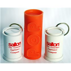 COIN TUBES. Plastic Coin Tube-Orange; Two Plastic Looney Catcher Tubes. Total of three (3) tubes. EF