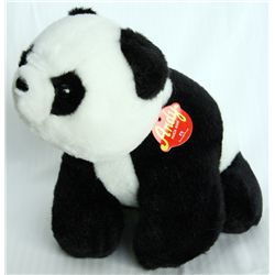 ANDY PANDA BANK by CANADA TRUST. A stuffed Panda Bear toy bank. Coin slot on top. 21cm x 24cm x 29cm