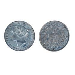 1873. Obverse port. #2. ICCS Very Fine-20. Silver wash.
